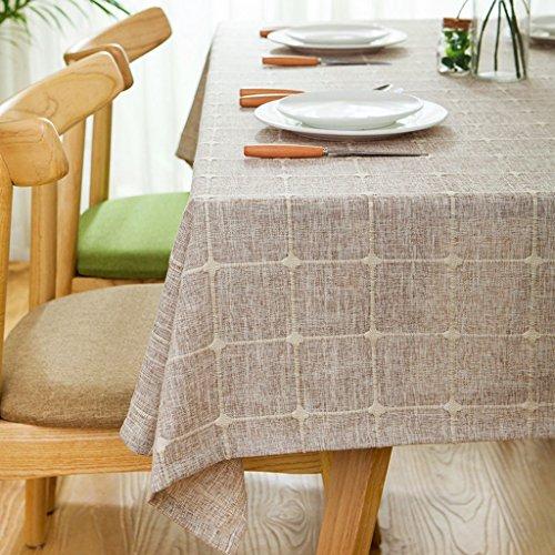 ZWL Toile en lin Toile en lin Littérature et table d'art Table ronde Table basse Table Housse en tissu Toile en tissu solide Tissu rural , Ajoutez de la vitalité à la cuisine ( Couleur : #3 , taille : 130*130CM )