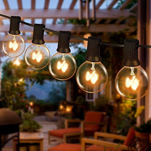 Lichterkette Außen Wasserdicht,Lichterkette Glühbirnen G40 12M 30er Globe Birnen mit 3 Ersatzbirnen, Lichterkette Glühbirnen Außen Strom, Lichterkette Garten für Weihnachten Hochzeit Party Balkon
