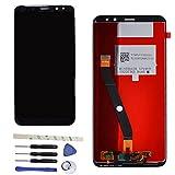 Draxlgon Pantalla LCD para Huawei Mate 10 Lite RNE-L21 RNE-L11RNE-L01 5.9inch, Pantalla LCD, Montaje de digitalizador con Pantalla táctil, Piezas de Repuesto (Negro)