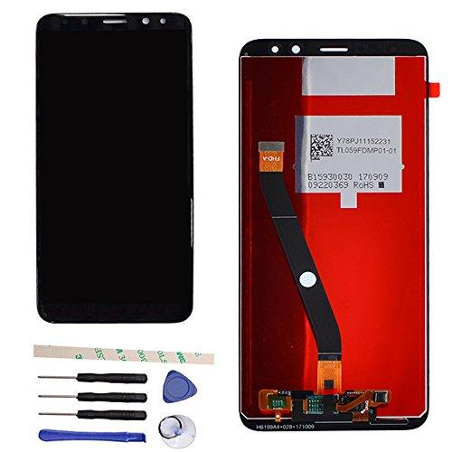 Draxlgon Reemplazo de Pantalla para Huawei Mate 10 Lite RNE-L21 RNE-L11RNE-L01 5.9inch Pantalla LCD Asamblea de digitalizador de Pantalla táctil (Negro)