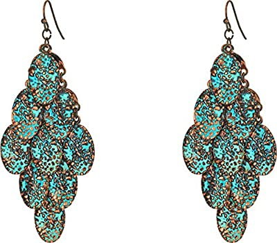M&F Western Women's Patina Dangle Earrings Patina One Size