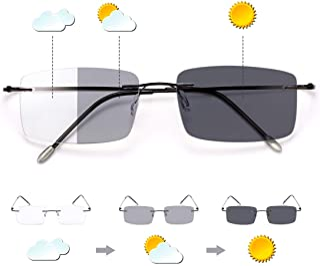 Fotochromische Progressieve Multifocus Transitie Leesbril Blauw Licht Blokkeren Multifocale Computer Zonnelezers Brillen A...