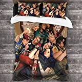 441 Descen-Dants 3 Twin Bedding Set Comforter Set Personality Soft Bed Sheet for Kids 3 Piece Size 86'' X70
