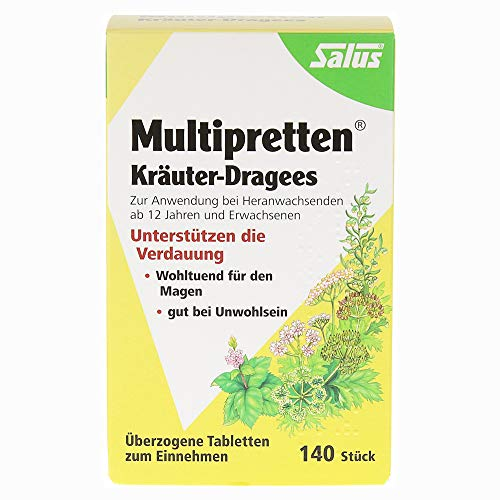 Salus Multipretten Kräuter-Dragees,140St