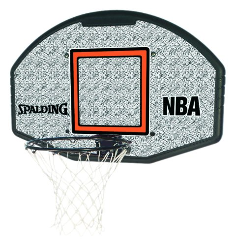 Spalding Basketballkorb NBA Composite Fan Backboard Badminton Board, weiß/Grau, 1