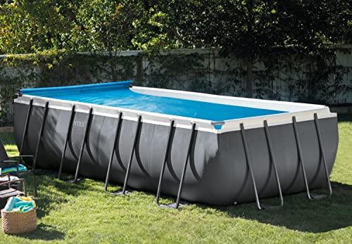 Intex 28051 - Enrollador para cobertor solar para piscinas cuadradas o rectangulares