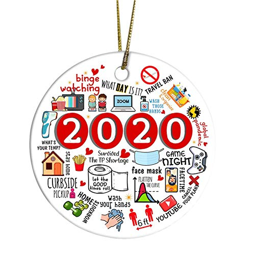 2020 Christmas Ornaments, Unique Christmas Hanging Ornament for Christmas Tree Decorations, Christmas Decorating Set Creative Friends Gift for Family Friends (1pc, B)