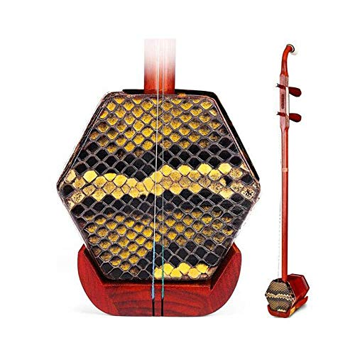 Erhu, Erhu Musikinstrument, Mahagoni-Knochen schnitzte Holzschaft Erhu, Erwachsene Anfänger Musikinstrument, Hexagonal Ethnische Musikinstrument, Stoß- Light Body Box DUZG (Color : Rosewood)