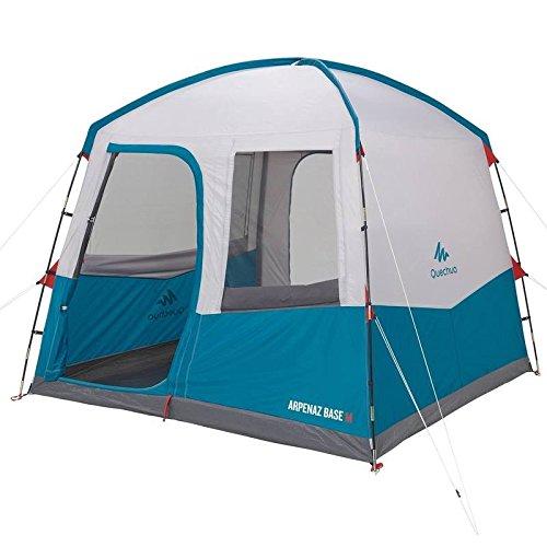 Quechua Arpenaz Unterlage für Camping, Wohnmobil, Camper, mittelgroß, für 6 Personen, blau/weiß