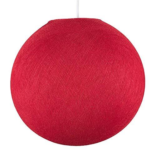Abat-jour - Globe Rouge - La Case De Cousin Paul