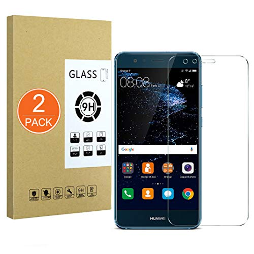 X-Dision [2 Pack Protector de Pantalla de Vidrio Templado Compatible con Huawei P10 Lite,[Ultra Resistente,Sin Burbujas,Fácil de Instalar] Protector de Pantalla para Huawei P10 Lite