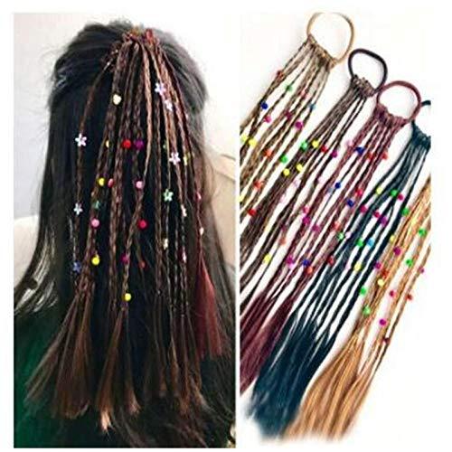 Dlfalg Kinderen Pruik Vlechten Multi-Kleur Mini Clip Kids Elastiek Haarbanden Meisje Leuke Haaraccessoires Koreaanse Stijl Haar Touw