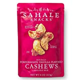 Sahale Snacks Pomegranate Vanilla Flavored Cashews Glazed Mix, 4 Ounces (Pack of 6)
