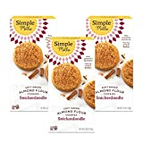 Simple Mills Almond Flour Snickerdoodle Cookies, Gluten Free and Delicious Soft Baked Cookies, Organic Coconut Oil, Good for Snacks, Made with whole foods, 3 Count (Packaging May Vary)