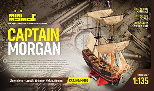 Mamoli Mini Captain Morgan Wooden Ship Model Kit Scale: 1/135 Length: 300 mm, Height:240mm MM05