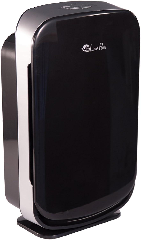 LivePure LP350TH-BLK Aspen Series Medium Console Air Purifier for Home, True HEPA Filter Captures Allergens, Smoke, Pollen, Mold, Dust Mites, Black