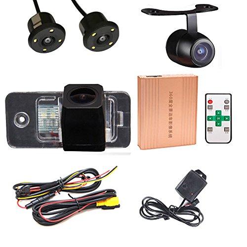 360 Grad Vogelschau Panorama System Car DVR 3D Rückfahrkamera Kamera Front HD Einparking für Audi A3 S3 8PA4 S4 B6 B7 B8 8K 8H 8E A5 8T 8F A6 A6L C6 C7 S6 4F 4G A8 A8L S8 D4 4H Mk3 Q7TDI4L