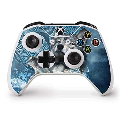 Skinit Decal Gaming Skin Compatible with Xbox One S Controller - Officially Licensed Tate and Co. Celtic Wolf Design