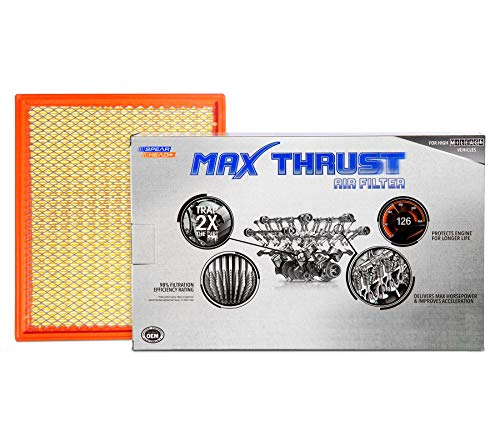 Spearhead Max Thrust Performance Engine Air Filter For All Mileage Vehicles - Increases Power & Improves Acceleration (MT-755)