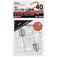 ミニクリプトン電球 E17/40W形 クリア 2個入 KR100/110V36WC/2P 06-2586 【まとめ買い10セット】
