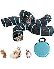 bulrusely Juguete del Túnel del Gato, Tubo De Túnel Plegable para Juegos De Mascotas, En Forma De S con 5 Formas De Oruga, Utilizado para Gatos, Perros Y Otros Juguetes para Perforar Mascotas