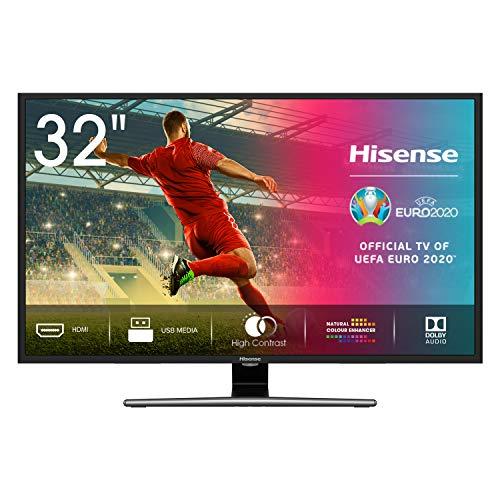 Hisense HD TV H32A5800 - Smart TV Resolución HD, Natural Color Enhancer, Dolby Audio, Vidaa U 2.5, HDMI, USB, peana central