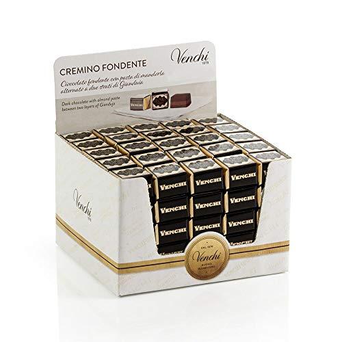 Confezione Cremino Fondente, 1225 gr - Pack di 125 Pezzi - Con Nocciola Piemonte IGP - Senza Glutine