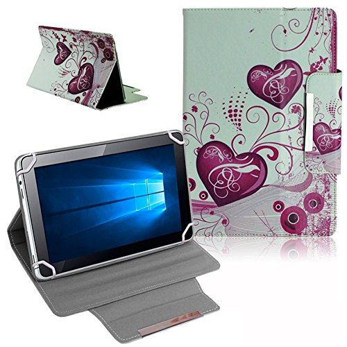 UC-Express Schutz Tasche für Odys Space 10 Plus 3G Hülle Tablet Schutzhülle Cover Case Herzen Bag Etui