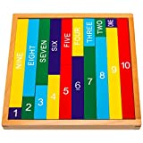 Natureich Juguete educativo de matemáticas Montessori de madera para aprender...