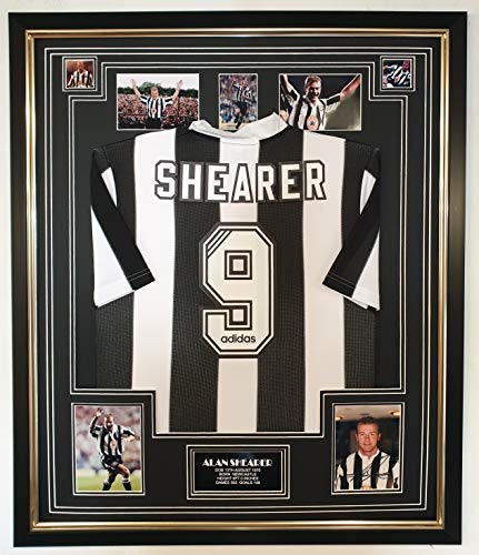 www.signedmemorabiliashop.co.uk Alan Shearer van Newcastle ondertekende foto met overhemd