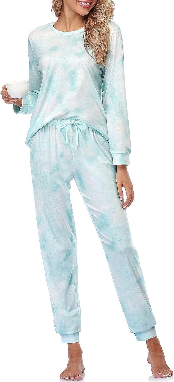 Womens Pajamas Set Long Sleeve Tops and 贈り物 Piece 2 PJ Sets Co 海外並行輸入正規品 Pants