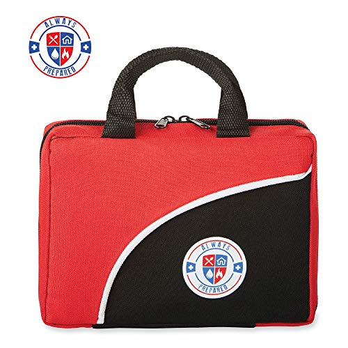 Always Prepared 126 Piece First Aid Kit - All-Purpose Lightweight Portable Emergency First Aid Survival Kit