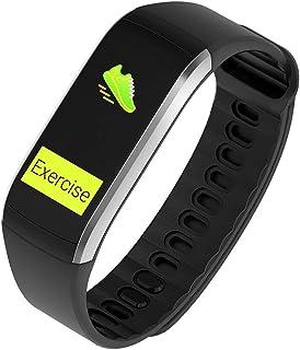 Zomeber Pulsera Pulsera Inteligente Deportes 0,96 Pulgadas GPS de Seguimiento Impermeable, Soporte Control de Las pulsaciones/podómetro/Modos Multi-Deportes/Insertar información (Deslustre)