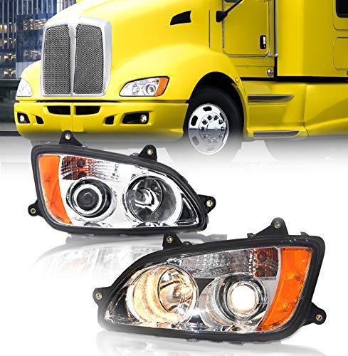 TORQUE Kenworth T170 T270 T370 T470 T440 T660 T700 Headlight Projector Pair 2008-2016 (TR090-L & TR090-R)