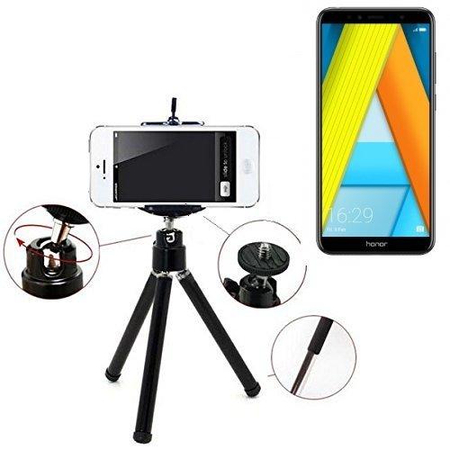 K-S-Trade Smartphone Trípode/Soporte Móvil/Trípode como para Huawei Honor 7A. Trípode De Aluminio/Trípode con Soporte para El Teléfono Móvil, Universal para Todos Los Teléfonos Inteligentes Y Las