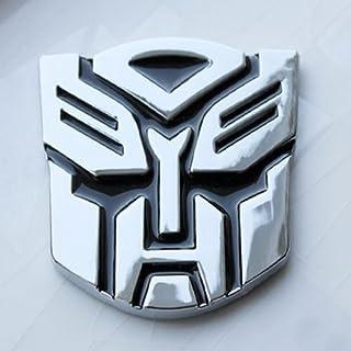 S2Stm Metal Transformer Car Decal 3D Decoration Logo Alloy Zinc Emblem Badge Sticker Truck Car & Bike Styling Silver