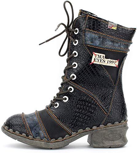 TMA Damen Winter-Stiefel 5199 Perlschwarz 36