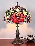 Lámpara de sobremesa con lámpara de sobremesa antigua, retro, rosa, rosa
