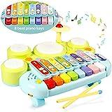 Ohuhu Table de xylophone Musique Jouets Jouets multifonctions Ensemble de batterie...