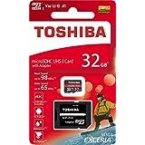 Toshiba Micro SD Card Memory Card 32GB EXCERIA M303 with SD Adapter microSDHC UHS-I U3 Card 4K Class10 V30 A1 microSD Read 98MB/s Write 65MB/s (THN-M303R0320A2) [並行輸入品]