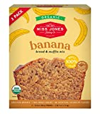 Miss Jones Baking Organic Banana Bread & Muffin Mix - Vegan, Dairy-Free, Soy-Free and Nut-Free (3 Count Case)