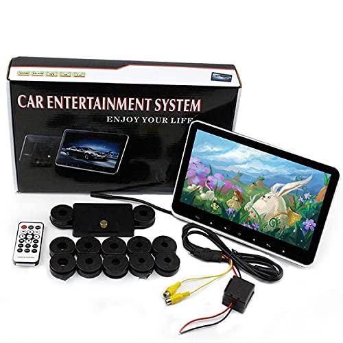 MaSYZBF Reproductores De Video para Reposacabezas De Coche De 10.1 Pulgadas, Reproductor De Video con Pantalla TáCtil 1080P para El Asiento Trasero del Coche, Entrada WiFi/USB/Hdmi