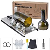 Glasschneider für Flaschen Edelstahl Flaschenschneider DIY Glasflaschenschneider,Einstellbare Größen Metall Bottle Cutter Glasschneider für Weinflaschen Dekorationen Schneidwerkzeug,5 Räder