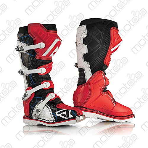 Acerbis Motocross Stiefel X-Pro V. rot weiss Gr. 44 - 2
