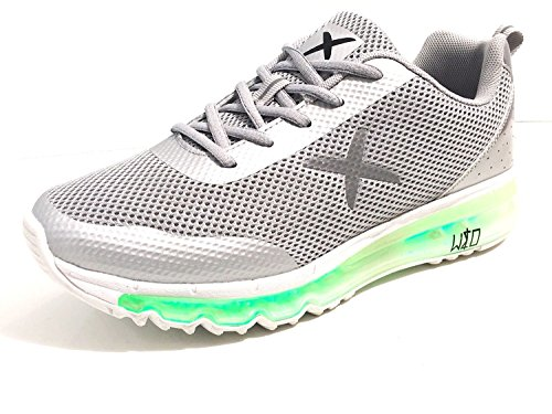 wize & ope Scarpe Uomo Donna Sneaker Con LED Multicolor Grigio US17WO01