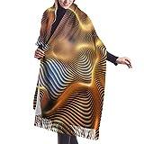 Bufanda de Invierno Para Mujer Chal Pashminas Arte de agujero de gusano Grande Larga de 196 * 68CM Chal Invierno Cálida Suave Manta para Mujeres
