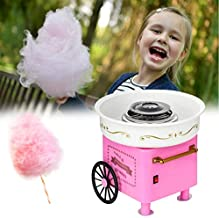 N/H Cotton Candy Maker Machine for Kids,Portable Electric Mini Cotton Candy Machine, Food Grade Splash-Proof Plate, Efficient Heating,Nostalgia Cotton Candy Maker for Kids Birthday and Family Party