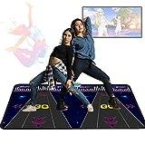 757 Tappetino per Danza Step Antiscivolo USB HD Cuscinetti per Tappetini da Ballo per Videogiochi AV Tappeto da Gioco Musicale Applicabile Ad Adulti Bambini Tappeto per Danza 3D (Doppio)