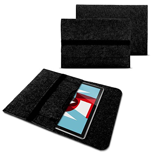NAUC Sleeve Filz Hülle Huawei MediaPad T5 10.1 Tablet Tasche Schutzhülle Cover Hülle, Farben:Dunkel Grau