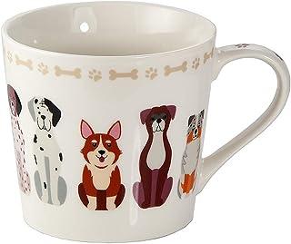 Taza de Café Te Originales, Taza Grande Mug, Resistente a Lavavajillas y Microondas, Taza con Perros y Hueso, Regalos Perr...